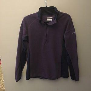 Purple Women's Columbia quarter zip: Large